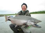 Bob's huge Kanektok River king salmon