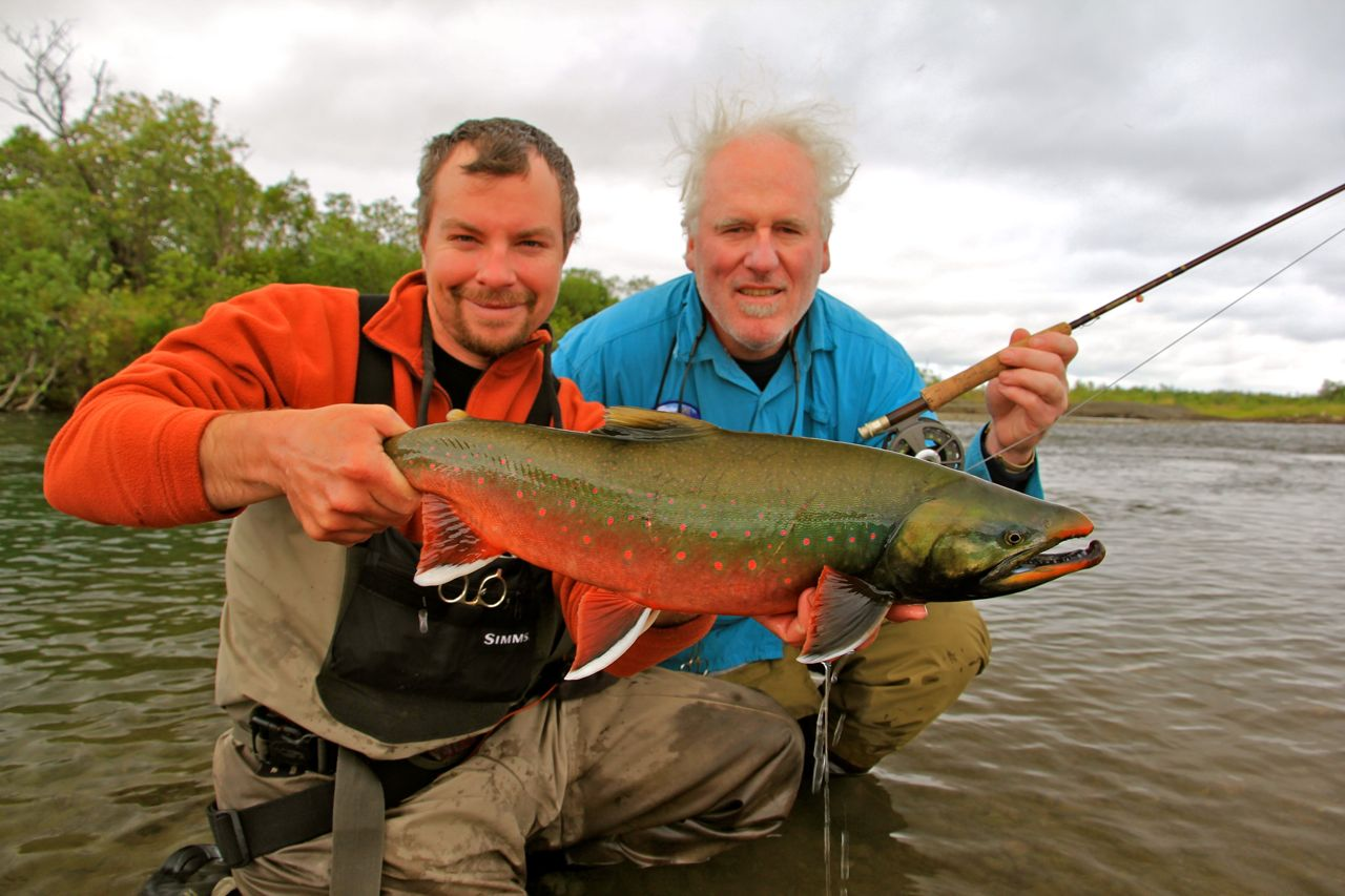 Brian s dolly varden on the kanektok alaska fly fishing for Dolly varden fish