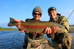 Ben's big rainbow on the Kanektok