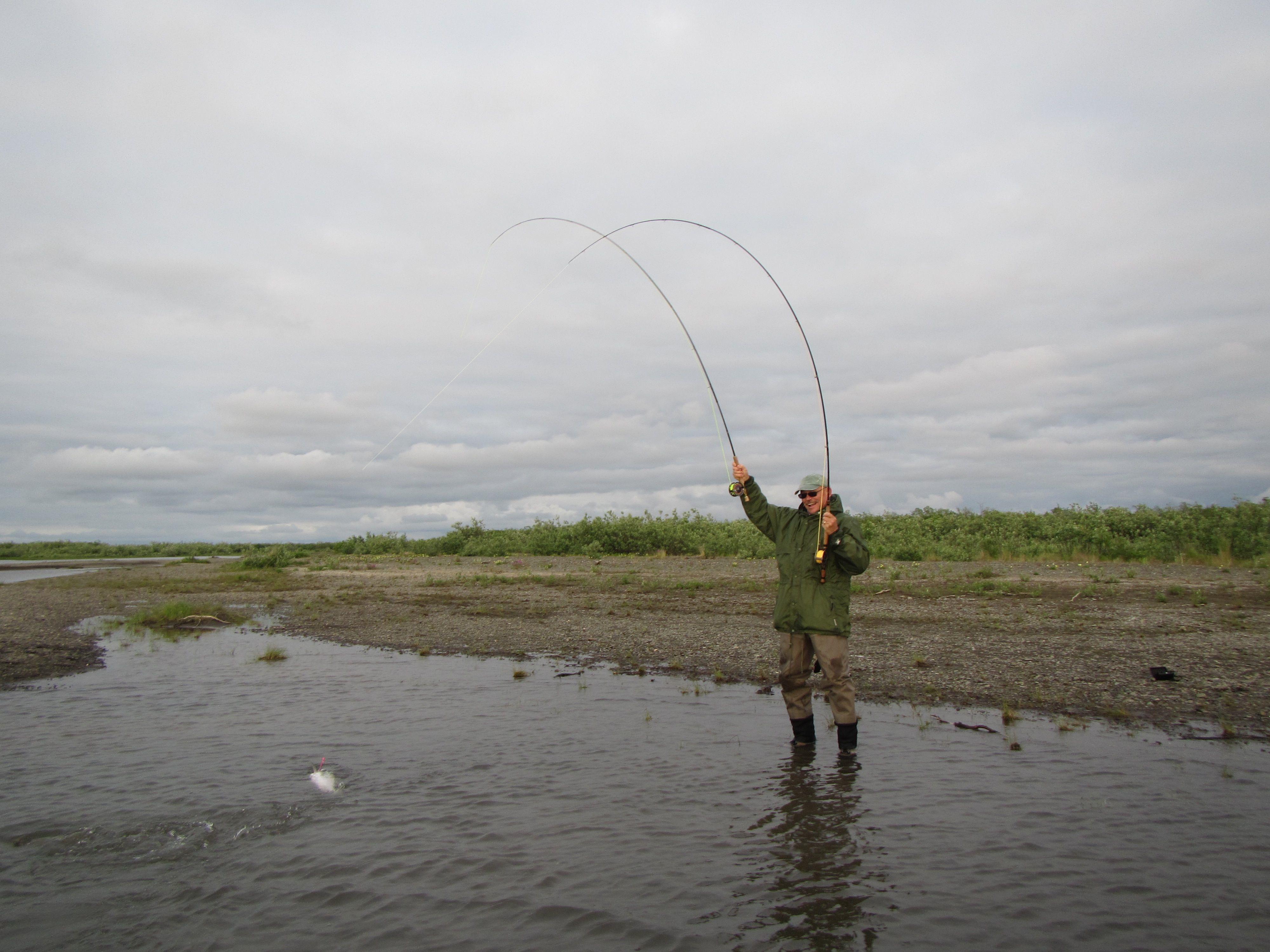 Fly fishing the kanektok river for chum salmon alaska for Alaska fly fishing