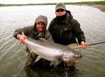 Spey fishing for king salmon on the Kanektok