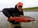 Colored up king on the spey rod